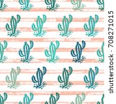 desert with cactuses. cactus...   Shutterstock .eps vector #708271015