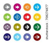 set of color arrows. icon stock ... | Shutterstock .eps vector #708276877