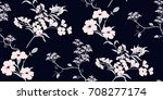seamless floral pattern in... | Shutterstock .eps vector #708277174
