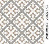 seamless vintage pattern for... | Shutterstock .eps vector #708277711