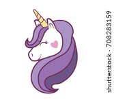 magical unicorn icon | Shutterstock .eps vector #708283159