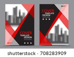 red color scheme with city... | Shutterstock .eps vector #708283909