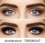 beautiful macro shot of female...   Shutterstock . vector #708286147