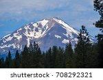 mount shasta volcano  still... | Shutterstock . vector #708292321