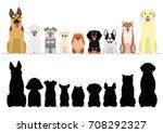smiling dogs border set | Shutterstock .eps vector #708292327