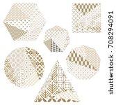 japanese pattern vector sets in ... | Shutterstock .eps vector #708294091
