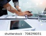 close up business man hand...   Shutterstock . vector #708298051