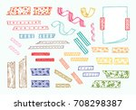 colorful strips of masking tape ... | Shutterstock .eps vector #708298387