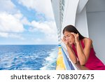 cruise sea motion sickness... | Shutterstock . vector #708307675