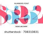font of numbers in classical... | Shutterstock .eps vector #708310831