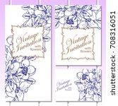 vintage delicate invitation... | Shutterstock .eps vector #708316051