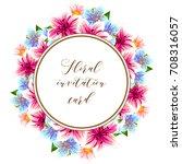 vintage delicate invitation... | Shutterstock . vector #708316057