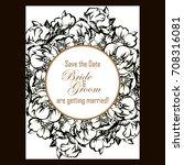 vintage delicate invitation... | Shutterstock .eps vector #708316081