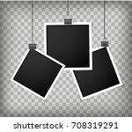 square frame paper template... | Shutterstock .eps vector #708319291
