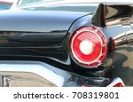 Red Tail Lights Of A Vintage...