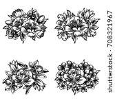 flower set   Shutterstock .eps vector #708321967