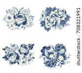 flower set | Shutterstock .eps vector #708321991