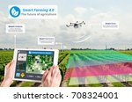 smart farming 4.0   hi tech... | Shutterstock . vector #708324001
