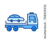 tow truck vector line icon... | Shutterstock .eps vector #708325231