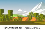 cartoon landscape. rural area.... | Shutterstock . vector #708325417
