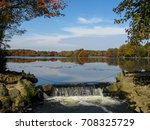 looking out at the lake on a...   Shutterstock . vector #708325729