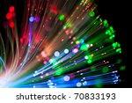 optical fiber lighting | Shutterstock . vector #70833193