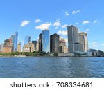 downtown new york city skyline... | Shutterstock . vector #708334681