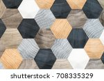abstract retro pattern of... | Shutterstock . vector #708335329