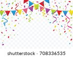 celebration happy birthday or... | Shutterstock .eps vector #708336535