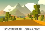 cartoon landscape. rural area.... | Shutterstock . vector #708337504