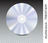 dvd or cd disc. blue ray... | Shutterstock .eps vector #708337609