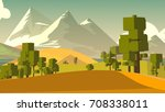 cartoon landscape. rural area.... | Shutterstock . vector #708338011