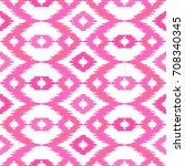 ethnic pink seamless pattern.... | Shutterstock .eps vector #708340345