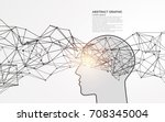 abstract brain graphic design ... | Shutterstock .eps vector #708345004