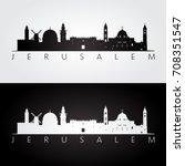 jerusalem skyline and landmarks ...   Shutterstock .eps vector #708351547