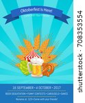 oktoberfest is here  come with... | Shutterstock .eps vector #708353554