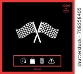 start finish cross flags icon | Shutterstock .eps vector #708358405