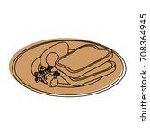 breakfast food design  | Shutterstock .eps vector #708364945