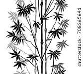 bamboo seamless vertical... | Shutterstock .eps vector #708365641