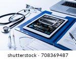 medical technology concept. | Shutterstock . vector #708369487