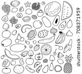 doodle black and white pattern... | Shutterstock .eps vector #708371959