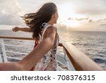 cruise ship vacation travel... | Shutterstock . vector #708376315