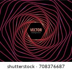 twisted neon lines. shining... | Shutterstock .eps vector #708376687