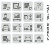 database and network icon set... | Shutterstock .eps vector #708379315