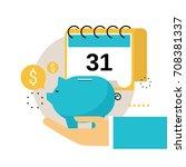financial calendar  financial... | Shutterstock .eps vector #708381337
