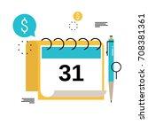 financial calendar  financial... | Shutterstock .eps vector #708381361