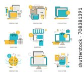 infographic icons collection... | Shutterstock .eps vector #708381391
