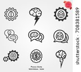 brainstorming icons ... | Shutterstock .eps vector #708381589