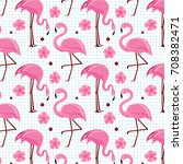 vector seamless pattern with... | Shutterstock .eps vector #708382471