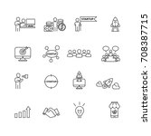 business and startup icons set... | Shutterstock .eps vector #708387715